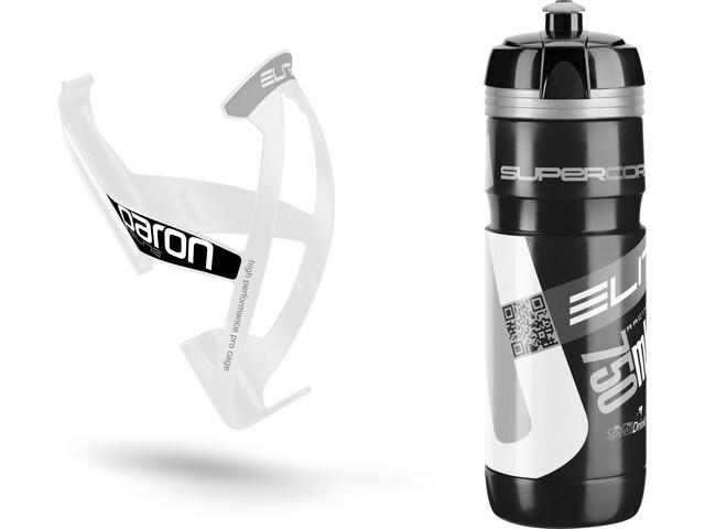 Elite Kit Supercorsa/Paron Trinkflasche & Halter 750 ml schwarz/weiß